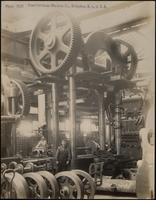 Workers with press