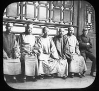 Group portrait of Chinese men