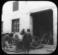 Imperial Chinese mint workers installing Ferracute Machine Company equipment, Chengdu, Sichuan Province, China