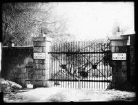 Blacksmith shop gate, Hagley Yard
