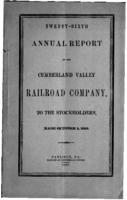 Twenty-sixth annual report of the Cumberland Valley Railroad Company