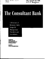 The consultant bank : a directory of Delaware Valley nonprofit management providers and consultants
