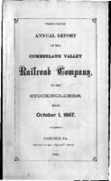 Thirty-third annual report of the Cumberland Valley Railroad Company