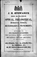 J.H. Steward's new catalogue of optical, philosophical, mathematical, surveying, and meteorological instruments