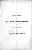 Annual report of the Associate Committee of Women to the board of trustees of Pennsylvania Museum and School of Industrial Art
