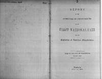 Report of the Committee of arrangements of the First National Fair for the Exhibition of American Manufacturers : held at the City of Washington, in May, 1846