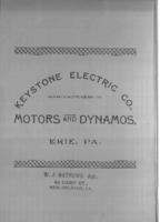 Keystone Electric Company, manufacturers of motors and dynamos