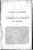 Speech of Hon. James Miller on the bill authorizing the purchase of grounds on the west side of the Schuylkill, in the city of Philadelphia, for a public park