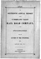 Sixteenth annual report of the Cumberland Valley Rail Road Company