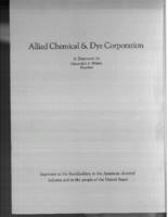 Allied Chemical & Dye Corporation : a statement