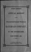 Twenty-seventh annual report of the Cumberland Valley Railroad Company