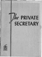 The private secretary : her qualifications and requirements