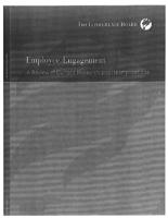 Employee engagement : a review of current research and its implications