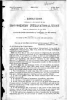 Resolutions adopted by a convention of the Iron Moulders' International Union held at Philadelphia in July 1870, against the further introduction of coolie labor into this country : December 12, 1870 : ordered to lie on the table and be printed