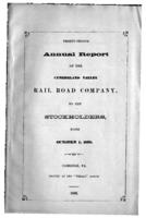 Thirty-second annual report of the Cumberland Valley Rail Road Company