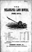 The Philadelphia lawn mowers, for 1872