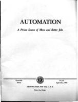 Automation : a prime source of more and better jobs