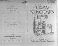 Thomas Newcomen, engineer : 1663-1729