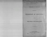 Preliminary circular respecting the exhibition of education at the World's Industrial and Cotton Centennial Exposition