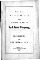 Thirty-sixth annual report of the Cumberland Valley Rail Road Company