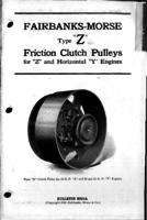 "Fairbanks-Morse type ""Z"" friction clutch pulleys for the ""Z"" and horizontal ""Y"" engines"