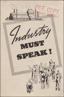 Industry Must Speak! (1937)