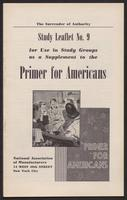 Primer for Americans: Study Leaflet No. 9 (1941)
