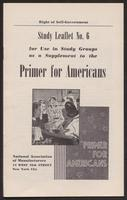 Primer for Americans: Study Leaflet No. 6 (1941)