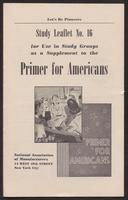 Primer for Americans: Study Leaflet No. 16 (1941)