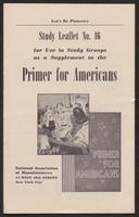 Primer for Americans: Study Leaflet No. 16 (1941)
