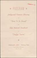 'Three to be Served' premiere program (May 1944)