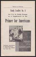 Primer for Americans: Study Leaflet No. 8 (1941)
