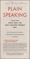 Plain Speaking: Concise Facts about NAM's 1946 Public Relations Program (ca. 1946)