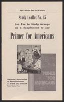 Primer for Americans: Study Leaflet No. 15 (1941)