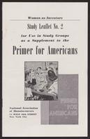 Primer for Americans: Study Leaflet No. 2 (August 1941)