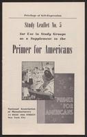 Primer for Americans: Study Leaflet No. 5 (1941)