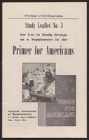 Primer for Americans: Study Leaflet No. 5 (1941)