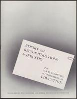 Report and Recommendations to Industry of the N.A.M. Committee on Cooperation with Education (1943)