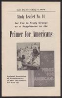 Primer for Americans: Study Leaflet No. 14 (1941)
