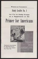 Primer for Americans: Study Leaflet No. 1 (October 1941)