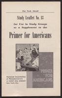 Primer for Americans: Study Leaflet No. 13 (1941)