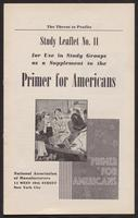 Primer for Americans: Study Leaflet No. 11 (1941)