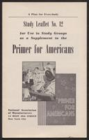 Primer for Americans: Study Leaflet No. 12 (1941)