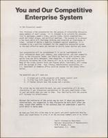 'You and Our Competitive Enterprise System' slideshow script (1974)