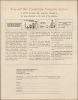 'You and Our Competitive Enterprise System' order form (1974)