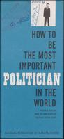 'How to Be the Most Important Politician in the World' brochure (1964)