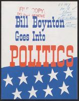 'Bill Boynton Goes Into Politics' pamphlet (1964)