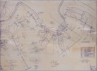 Map of Water Pipes on DuPont Properties Along the Brandywine, 1929