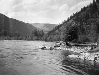 River and mountains near Helena, Montana