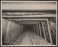 Steel timbering, Red Ash Vein, Cooper tunnel, Woodward mine